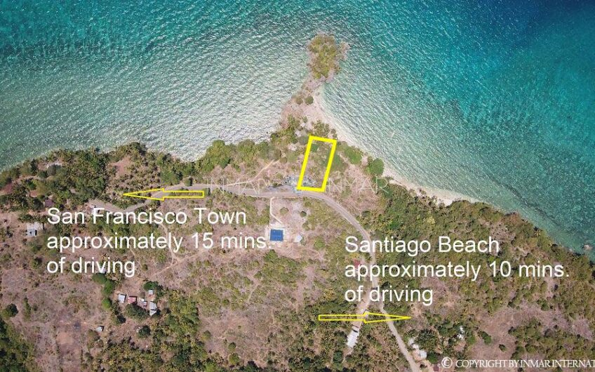 Lot for sale with cliff and white sand beach